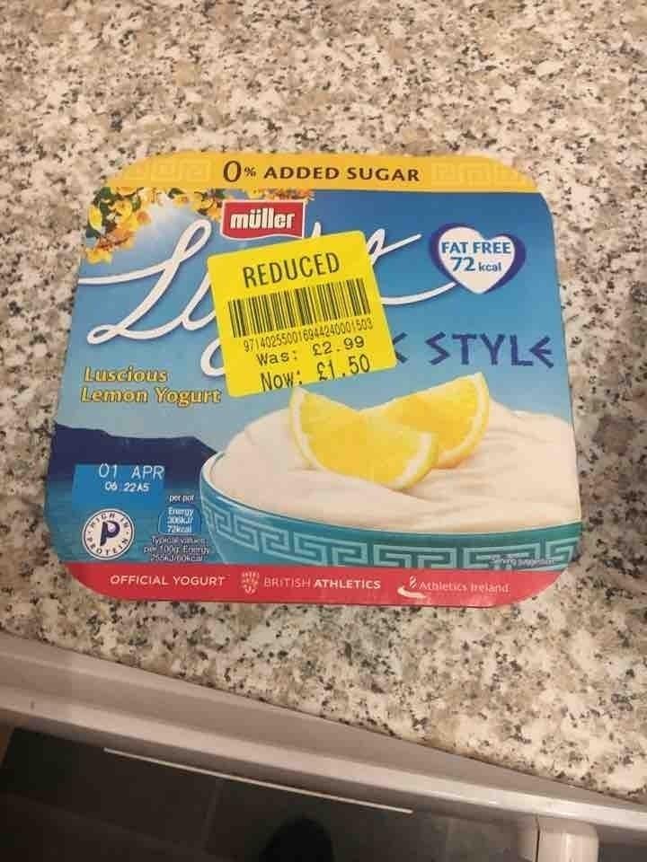 Greek styl yogurt