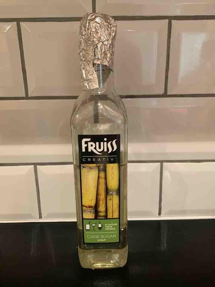 Half used cane sugar syrup