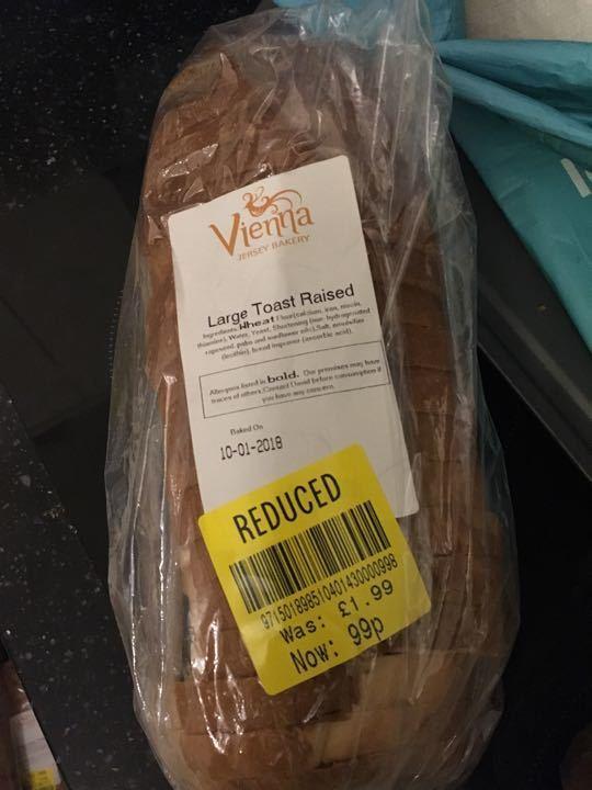 Large toast raised