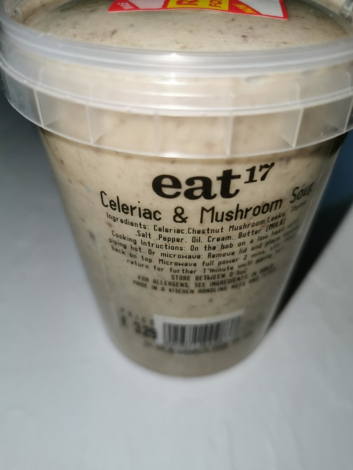 Celeriac and mushroom soup