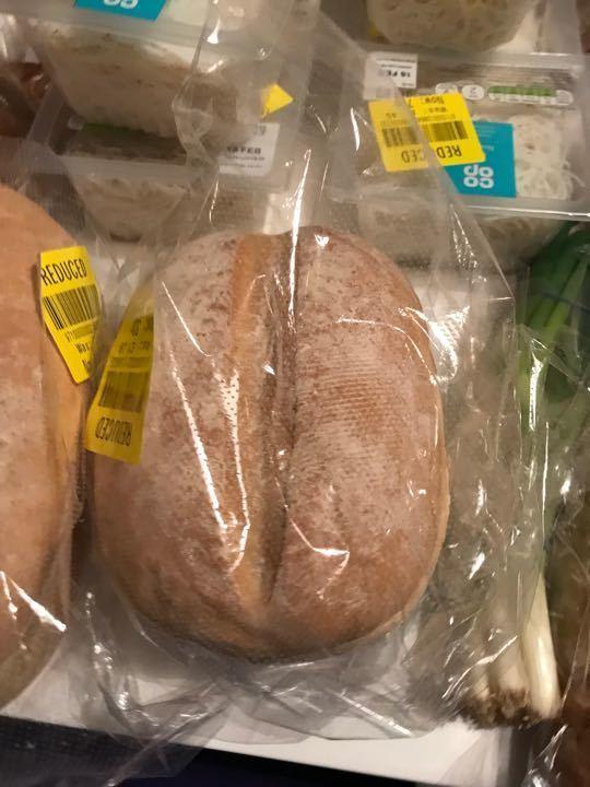 Unsliced white bread