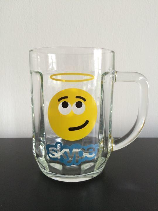 Skype beer glass