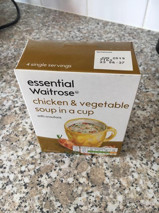 Waitrose chicken veg cuppa soup