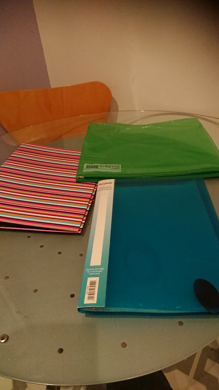 Folder and plastic wallets