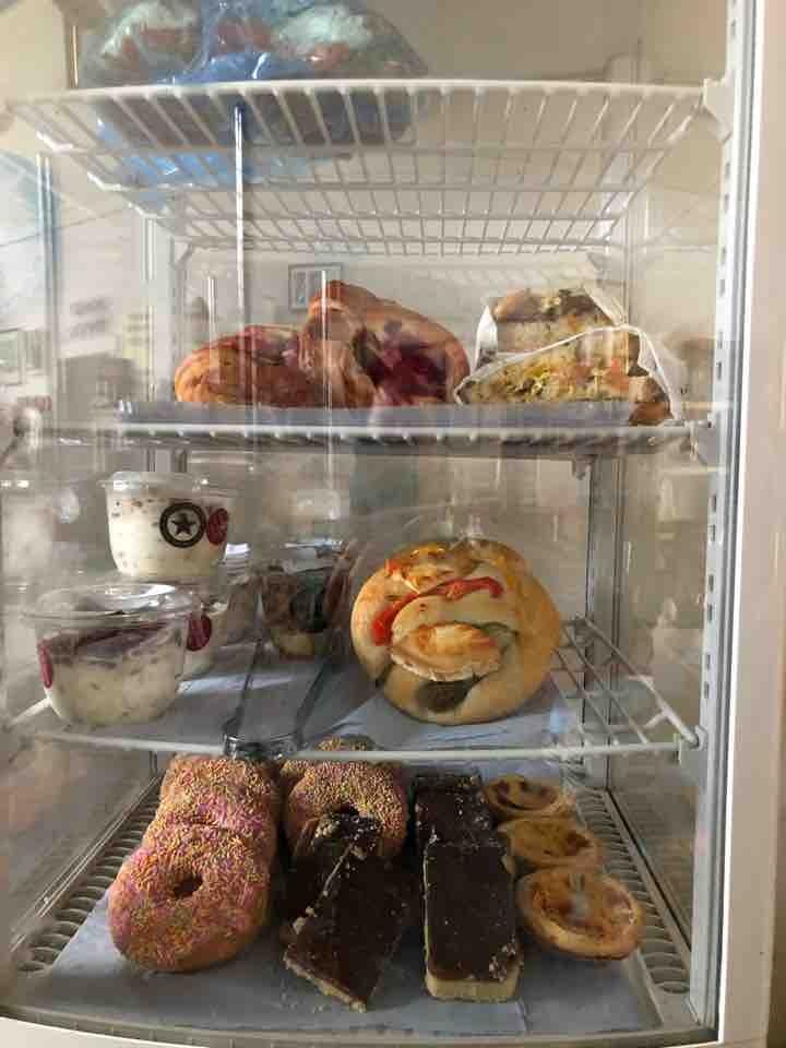 Buns, focaccia, millionaires shortbread, fruit scones