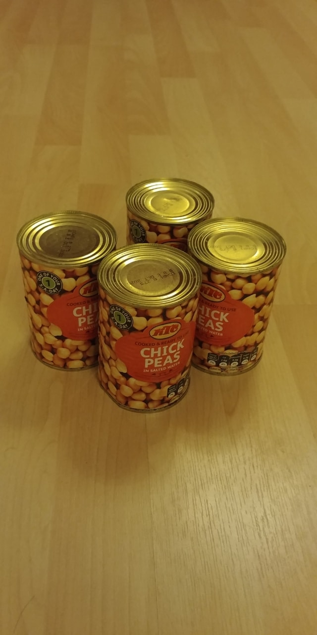 5 Cans of Chickpeas KTC