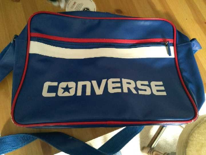Faux leather converse side bag