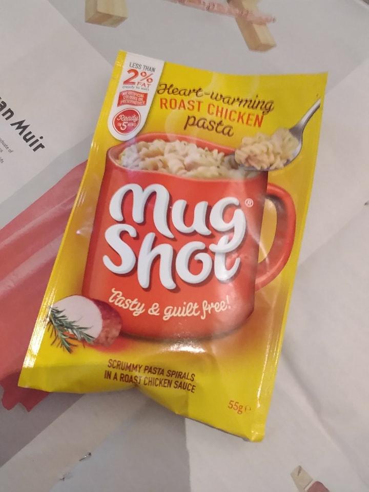 Mug shot - chicken pasta