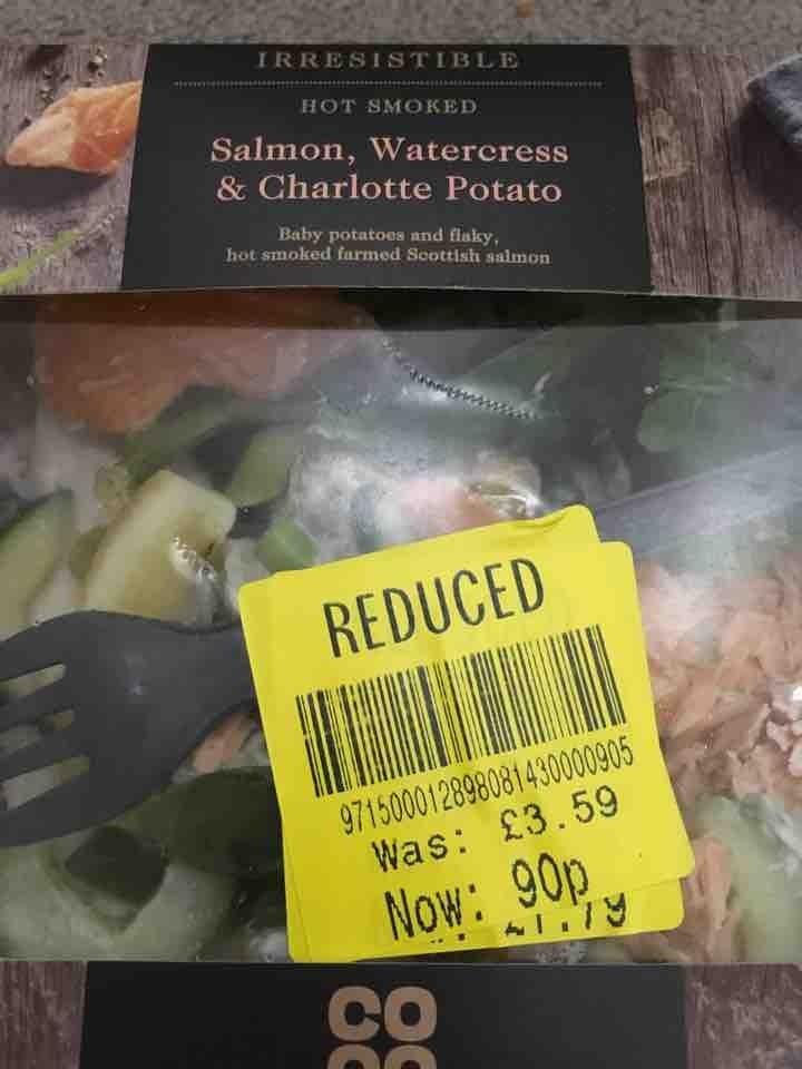 Salmon, watercress and potatoes