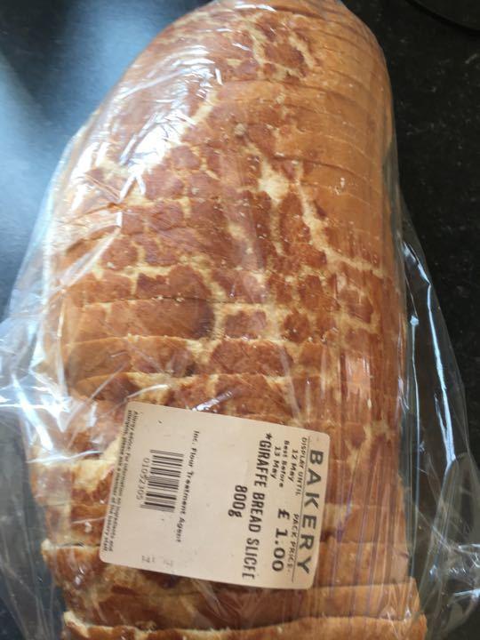 Giraffe bread sliced