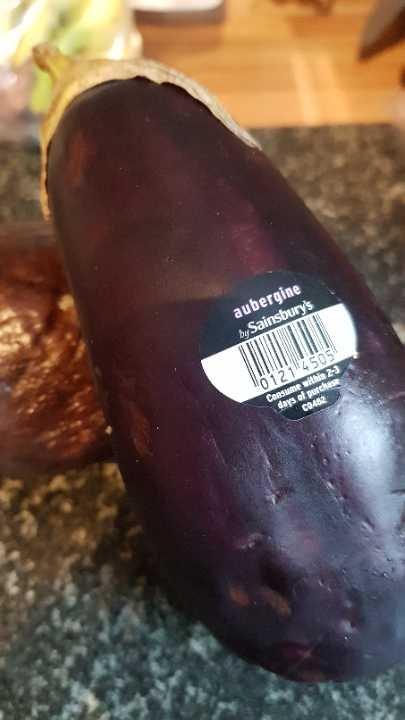 Ripe aubergine