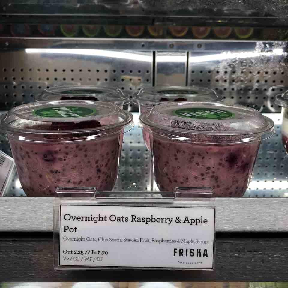 Raspberry and Apple overnight oats
