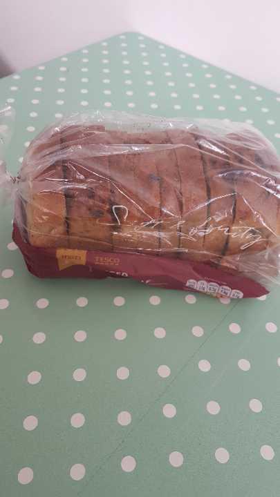Sliced fruit loaf