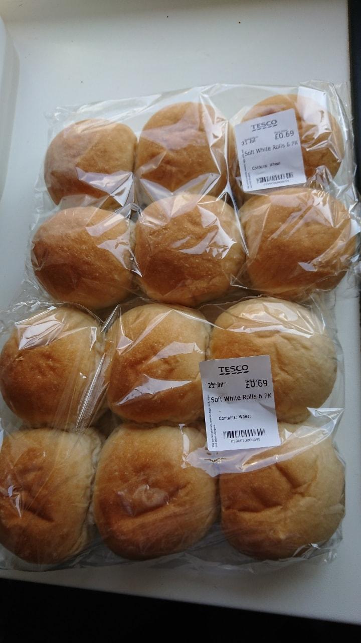 12 white rolls