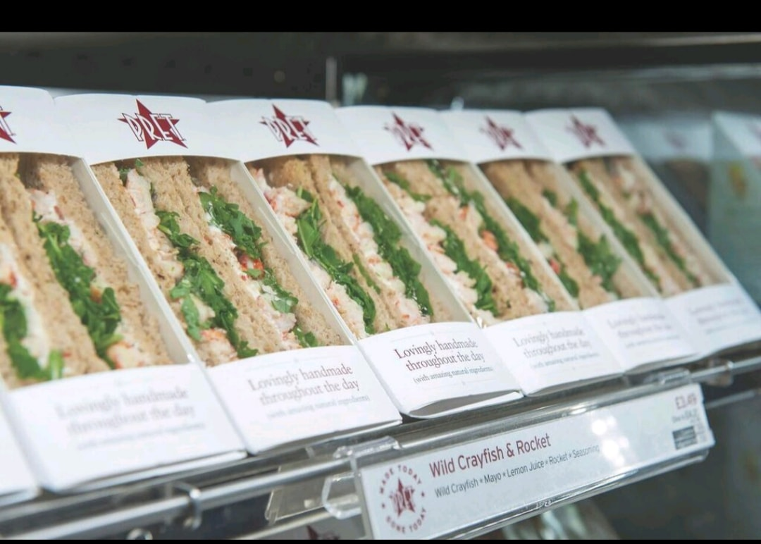 Pret A Manager Sandwiches