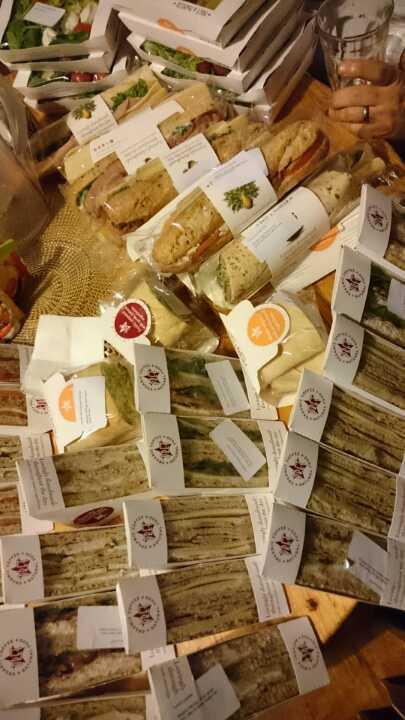 Pret sandwiches, baguettes, salads