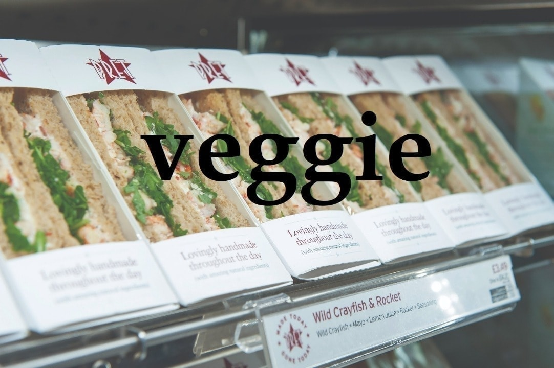Pret veggie sandwiches from Friday night collection