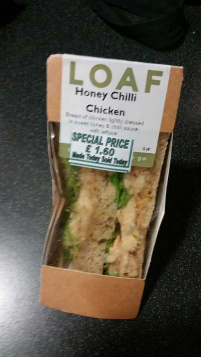 Honey chilli chicken sandwich from Loaf