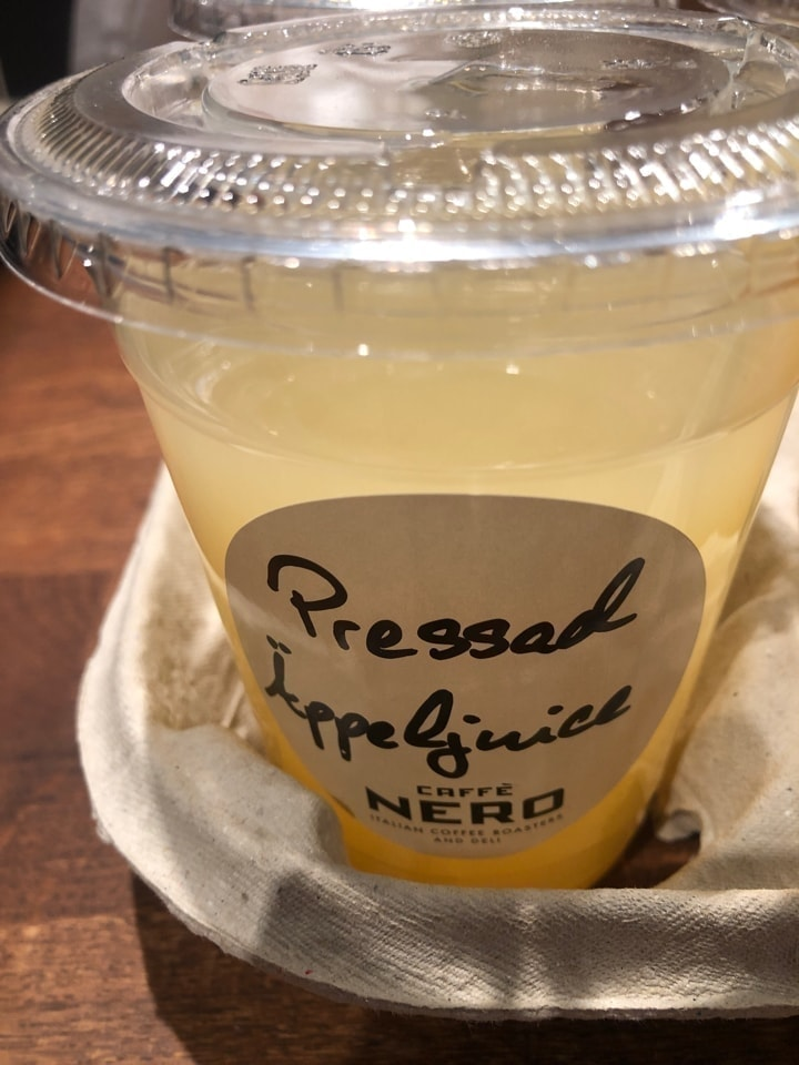 Fresh juices from Caffe Nero 19/3