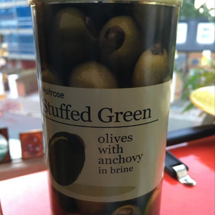 Stuffed green olives with anchovy