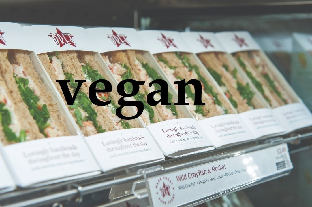 Pret vegan baguettes from Saturday night collection