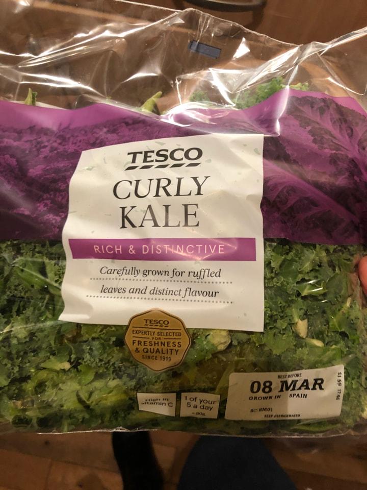Tesco- curly kale 🥬