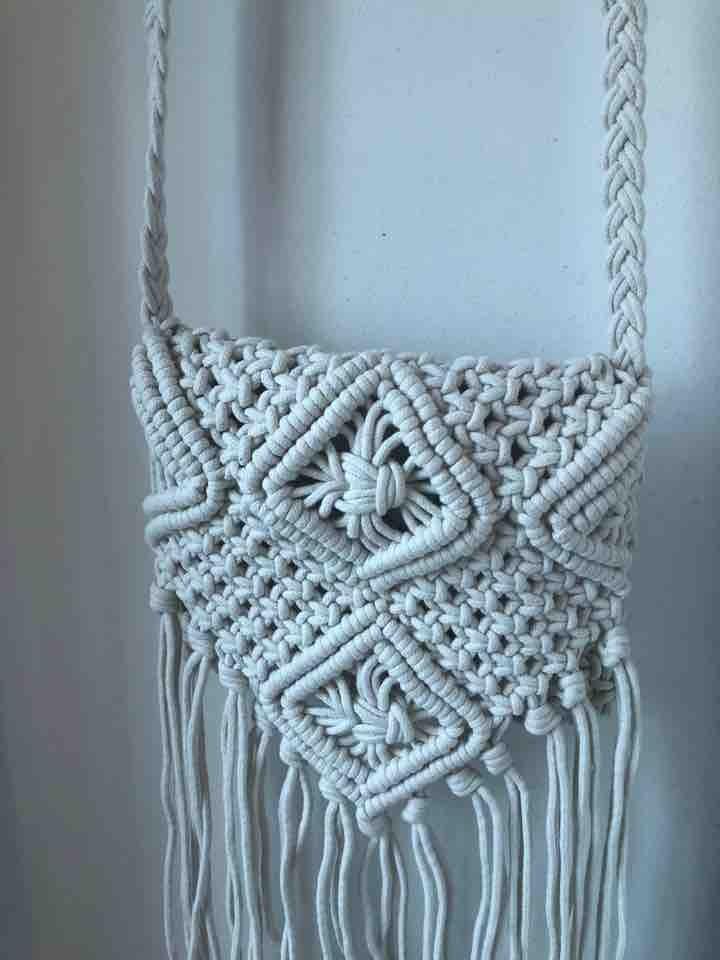brand new - small crochet sling bag