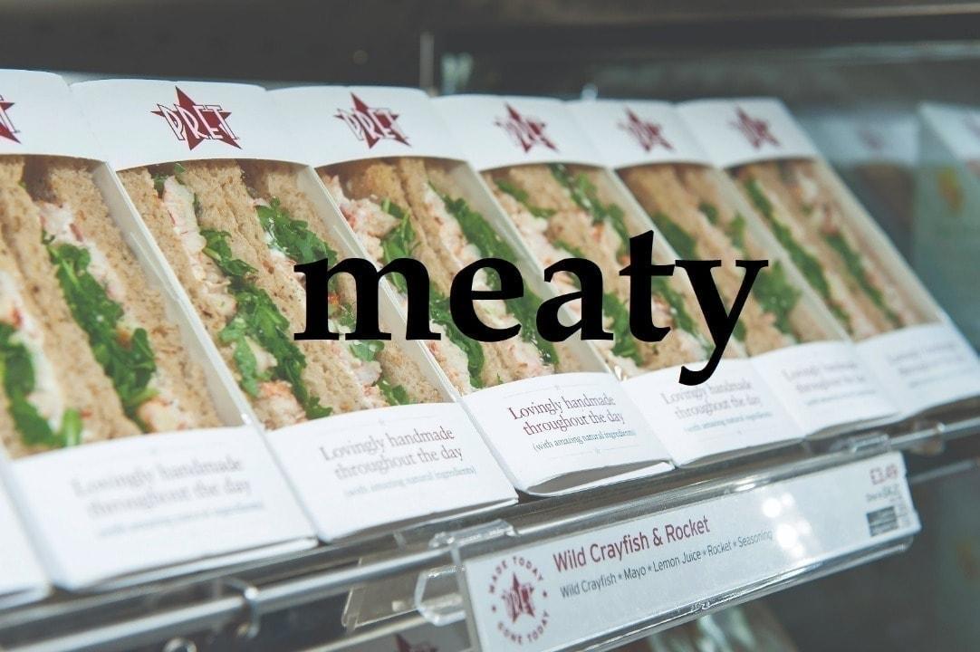 Pret meaty sandwiches, baguettes & wraps