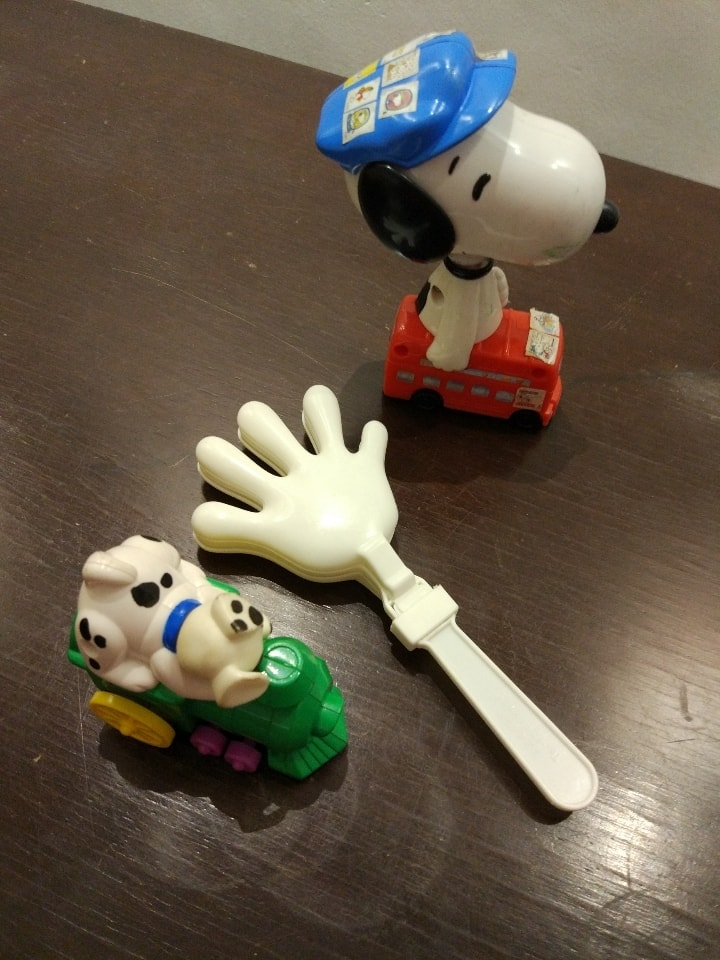Snoopy bus and other toys