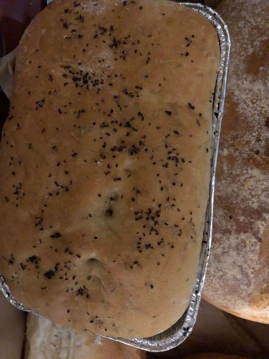 Seasoned tray bread