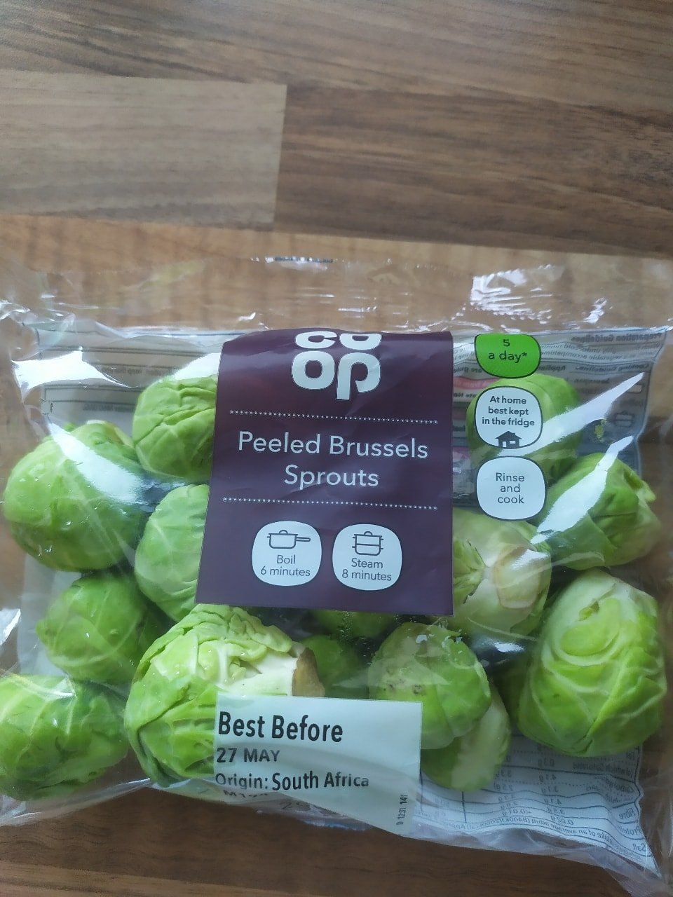 Peeled sprouts