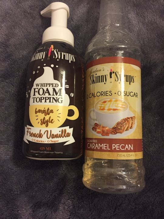 Zero calorie coffee syrup and whipped topping - OLIO