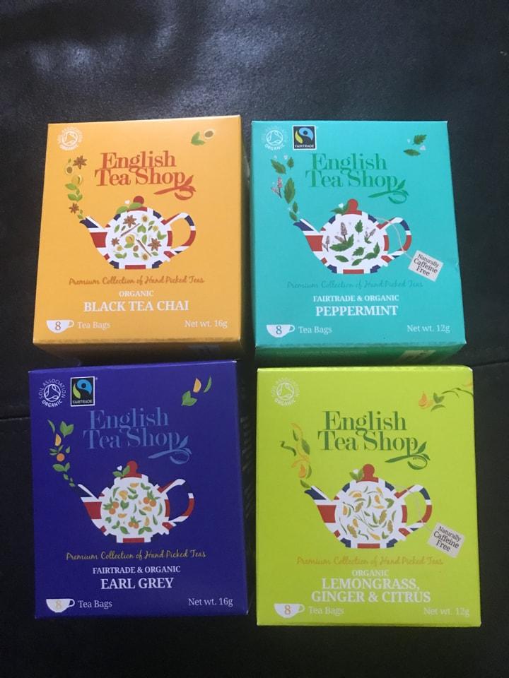 Assorted organic tea bags