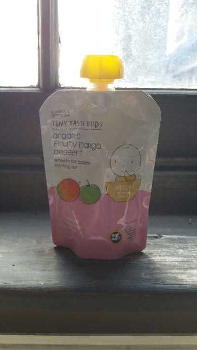 Tiny Taste buds organic fruity mango dessert