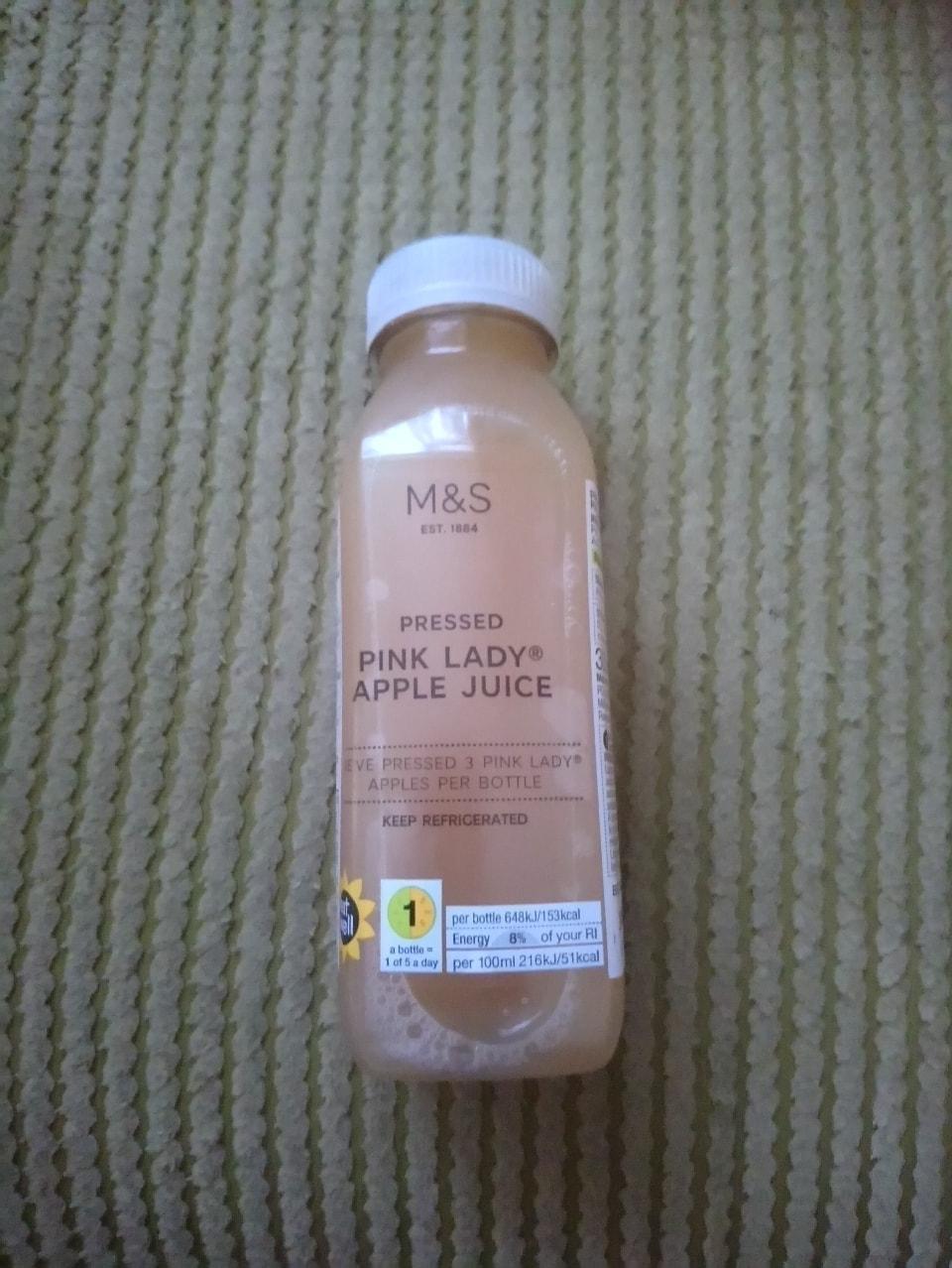 Pink lady apple juice