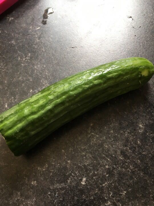 Half cucumber