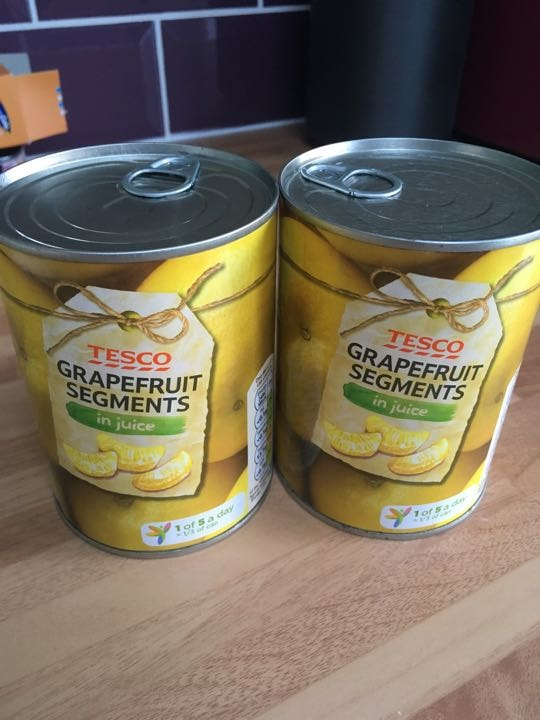 Grapefruit in own juice x2 tins