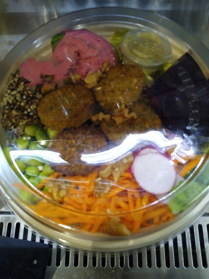 Veggie falafel rainbow salad bowl