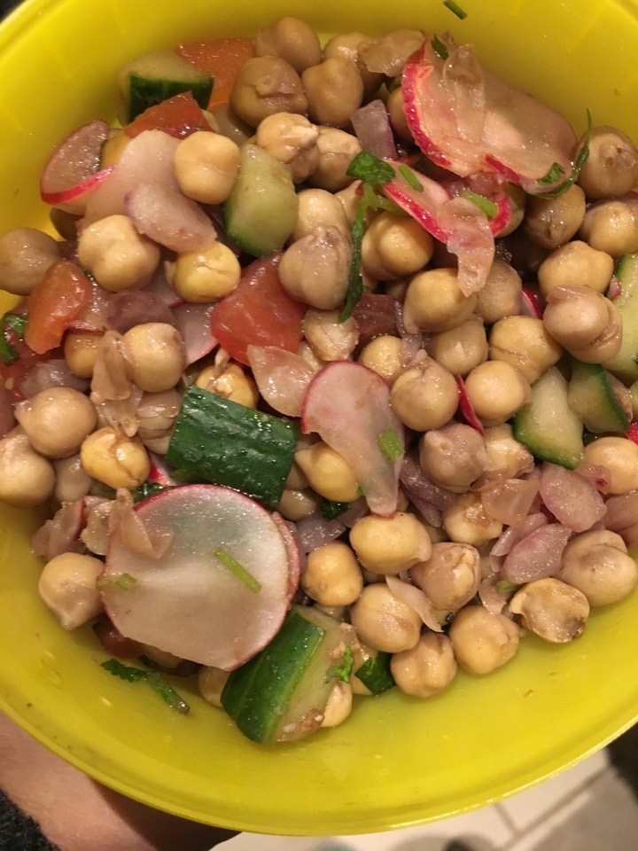 1 container chick pea salad from Deliciously Ella