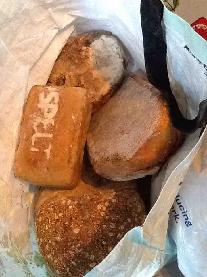 Various loaves of bread from Flour Pot bakery