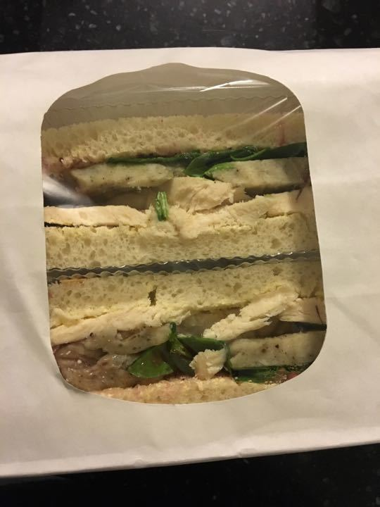 Turkey, cranberry and stuffing sandwich