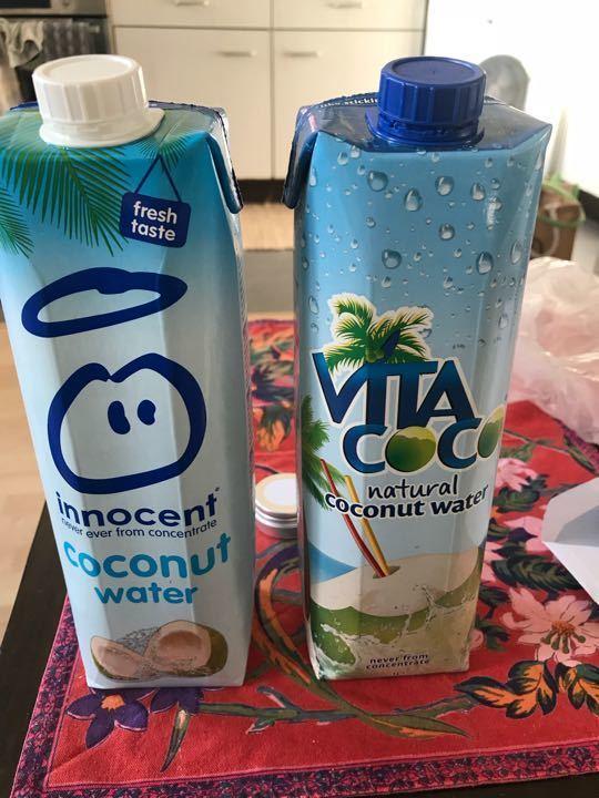 Coconut water been kept in fridge
