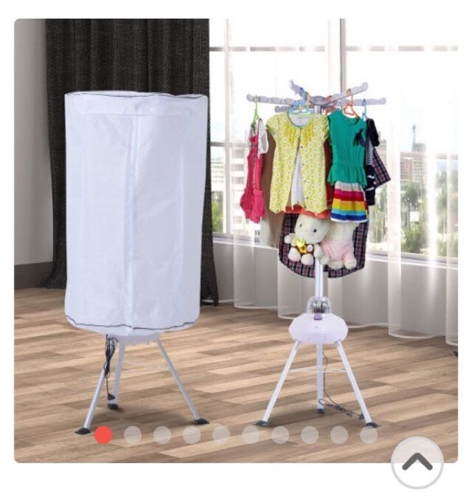 Hot air electric clothes drier