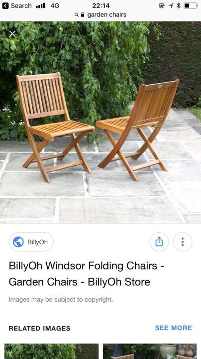 Garden chairs/bench