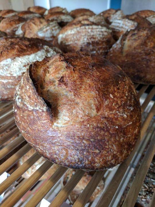 Artisan spelt sourdough loaves - last one