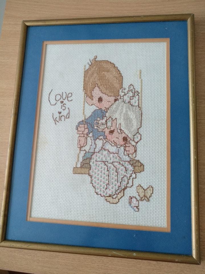 My Melody cross stitch