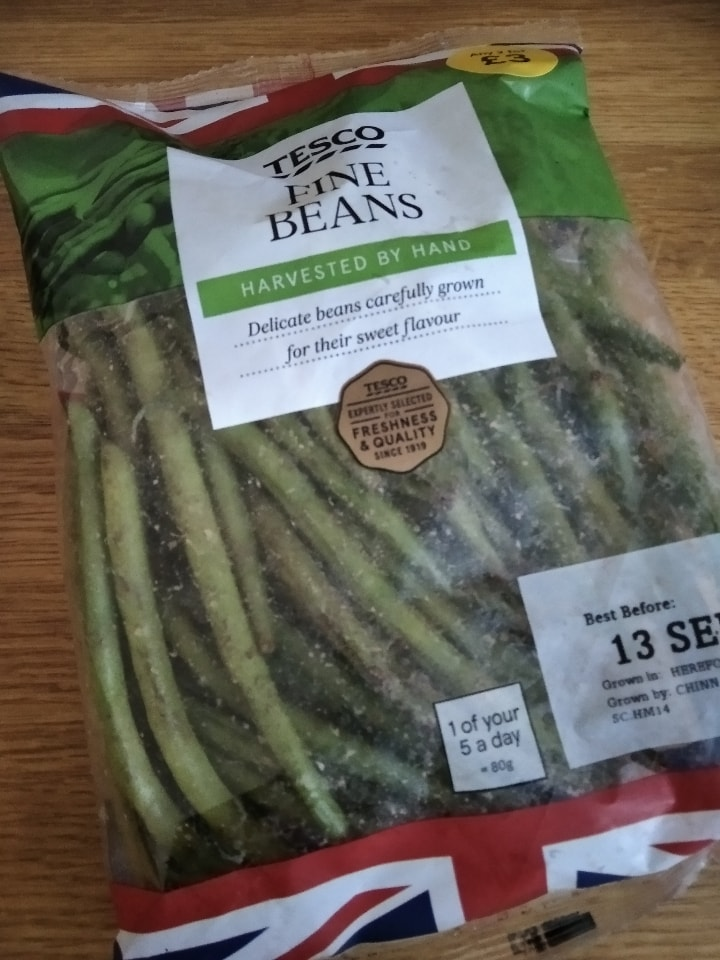 Large packet fine beans