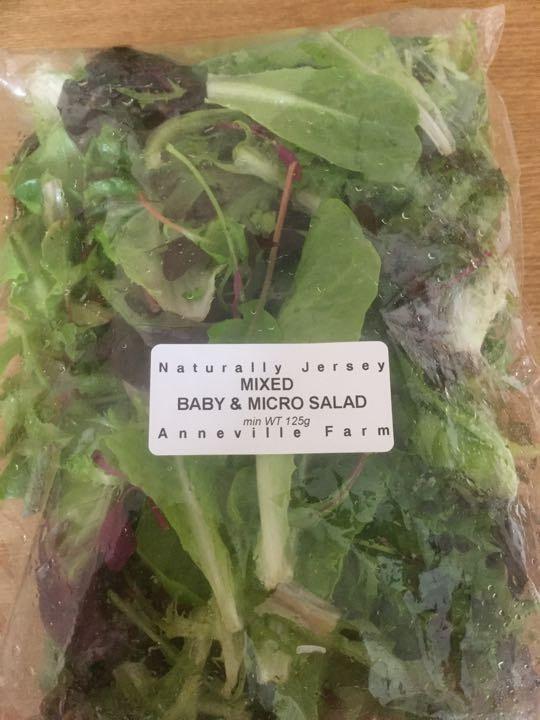Micro leaf and baby leaf salad