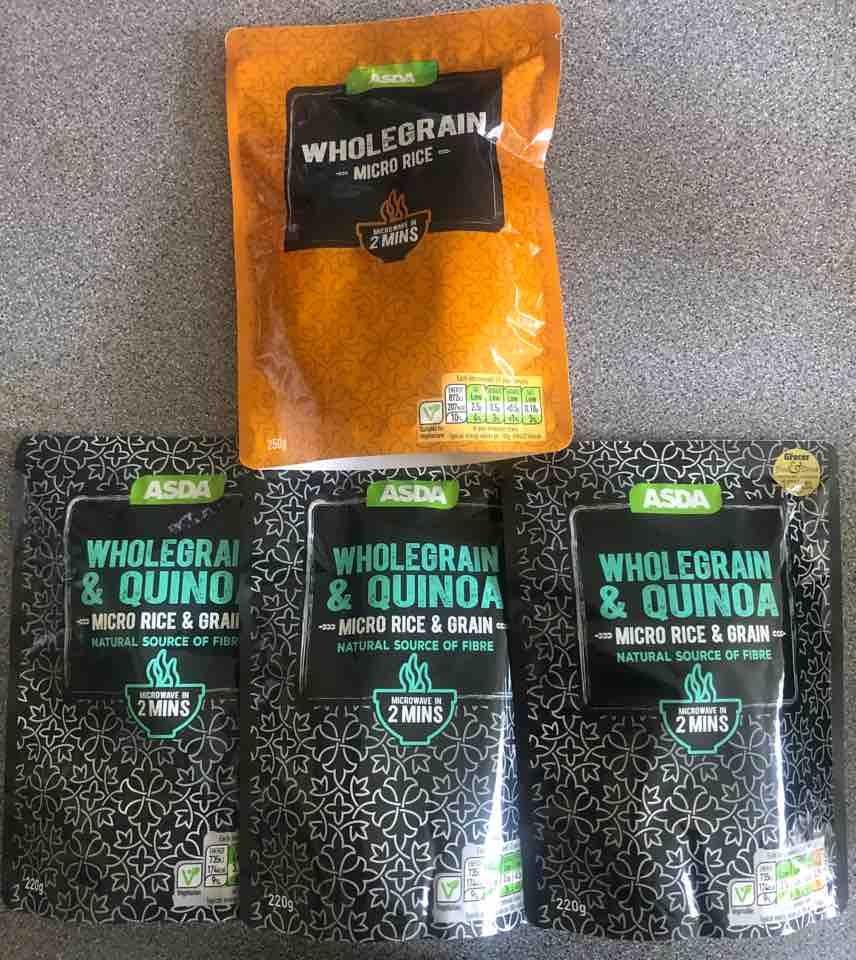 Wholegrain micro rice packets