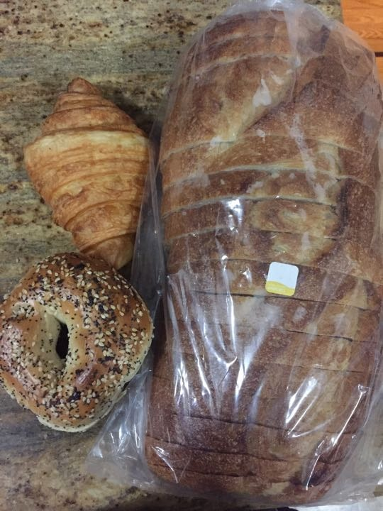Bagels, pastries, and bread